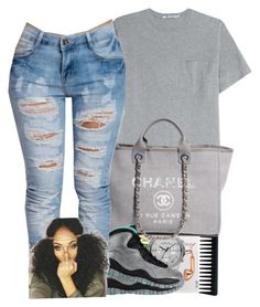 ~BeautifulMe078 by trillest-queens on Polyvore featuring polyvore, fashion, style, T By Alexander Wang, Chanel, Marc by Marc Jacobs, Happy Plugs and GHD