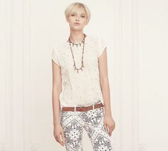 Colección mujer Otoño / Invierno 2012 Isabel Marant, Paisley, Even And Odd, Shorts, Chic, Blouse, My Style, Womens Fashion, Police