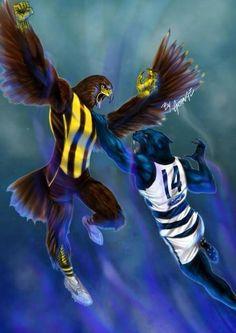 GFC Australian Football League, Cat Character, Great Team, Best Tv Shows, Cartoon Characters, Sport Cakes, Sports Teams, Hawks, Lancaster