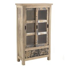 Industrial vintage style wooden glass cabinet providing an urban industrial feel to any interior decor scheme Shabby Chic Furniture, Industrial Furniture, Furniture Decor, Painted Furniture, Urban Industrial, Vintage Industrial, Apple Boxes, Furniture Collection, Interior Decorating