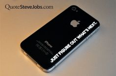 Quote Steve Jobs - Just figure out what's next - vinyl sticker for iPhone Macbook Stickers, Macbook Decal, Mac Decals, Iphone Decal, Steve Jobs, Apple Tv, Intuition, Silhouette Cameo, Geek Stuff