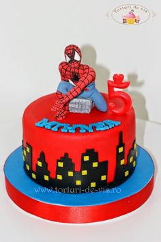 Spiderman Cake Ideas for Little Super Heroes - Novelty Birthday Cakes Happy Birthday Spiderman, 6th Birthday Cakes, Spiderman Theme, Superhero Birthday Cake, Novelty Birthday Cakes, Cake Business, Cupcakes, Fancy Cakes, Cake Tutorial