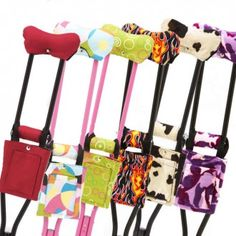 Fashion Crutch Accessories - Print Crutch Covers