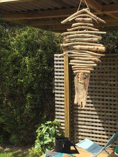 My outdoor skeleton fish driftwood hanging