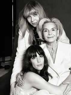Twitter / BebeBuellBand: Harper's Bazaar May issue: Grandmother, mother, daughter (: