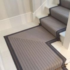Cost Of Carpet Runners For Stairs Staircase Carpet Runner, House Staircase, Staircase Design, Staircases, Textured Carpet, Beige Carpet, Grey Hall, Hallway Colours, Georgian Interiors