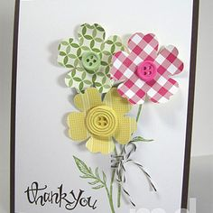 Simply Pressed Clay Buttons Card