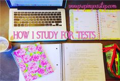 How I Study For Tests {Tips and Tricks For Acing Your Next Test}