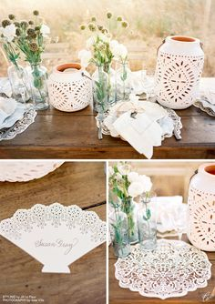 Lasercut Place Cards and Place Mats from Ceci New York, Styled by Jill La Fleur