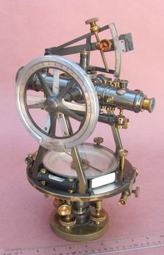 A theodolite is a precision instrument for measuring angles in the horizontal and vertical planes. Theodolites are used mainly for surveying applications, and have been adapted for specialized purposes in fields like metrology and rocket launch technology.