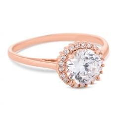 Rose gold plated sterling silver clara ring