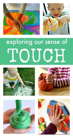 sense of touch activities :: sensory play activities for babies :: sensory play for toddlers :: preschool sensory play :: exploring senses unit