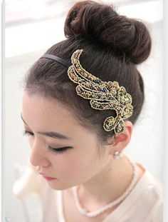 Wholesale Elegant Wing Pattern and Muti-layered Beads Hair Band (AS THE PICTURE), Hair Accessories - Rosewholesale.com