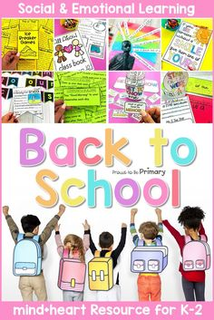 Teach social-emotional learning lessons the first weeks of school with this back to school SEL resource that includes lesson ideas and activities on classroom community building, relationships  and friendships, all about me, kindness, and empathy for kindergarten, first, and second grade. The beginning of the school year is an important time to start teaching social skills and emotional development! #socialemotionallearning #classroommanagement #backtoschool #charactereducation #socialskills