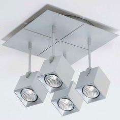 Dau Spot 4 Light Square Ceiling Light