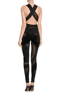 Jumpsuit with Sheer Inserts look detail back