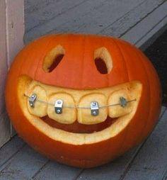 The Celebration Shoppe Middle school pumpkin with braces