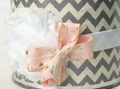 Arrow Headband - Arrow Bow - Shabby Flower Headband - Light Pink Headband-  Photo Prop - Newborn, Baby, Infant, Toddler, Child, Adult by BirdieBelles on Etsy