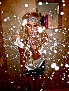 Totally want to get a picture of us all blowing glitter! Soo cool.