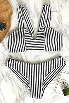 Cupshe Special For You Stripe Bikini Set