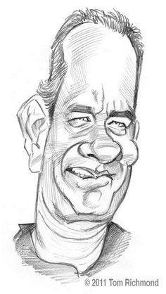 #caricature Tom Hanks © 2010 Tom Richmond