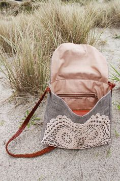 FINCH small boho messenger bag leather plait strap and by NZFINCH
