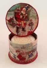 Punch Studio Christmas Santa Keepsake Storage Box Holiday Trinket New with Soap