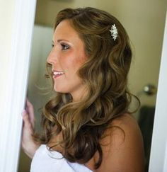 Wedding hair with soft waves! Destination wedding hair and makeup tips :)