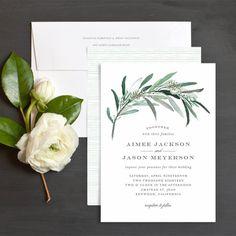 Lush Greenery Wedding Invitations by Emily Crawford | Elli