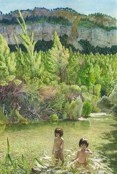Peralejos de las Truchas  (Agost 2012)    watercolor