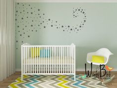 Baby Nursery Decals Star Confetti Wall Set Of 129 Use Your Creativity To Create Any