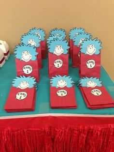 Dr Seuss Thing 1 2 Birthday Party Ideas