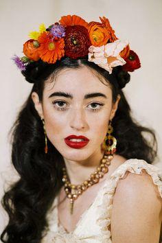 Frida Kahlo inspired wedding on the Amalfi Coast