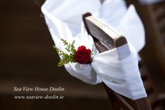 Simple wedding chair decoration