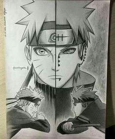 Naruto Shippuden - Naruto x Pain Naruto Uzumaki, Anime Naruto, Boruto, Manga Anime, Kakashi, Gaara, Naruhina, Naruto Drawings, Naruto Sketch