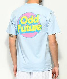 f837d7f429e022 Odd Future Retro Logo Light Blue T-Shirt