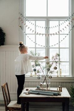 my scandinavian home: 3 Beautiful Christmas Decorations You Can Make From Wallpaper!