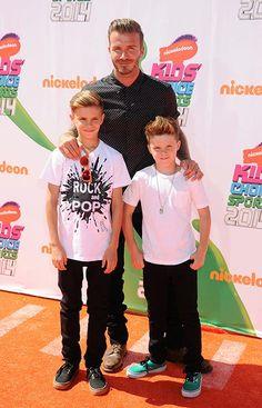 David Beckham with sons Romeo, 13, and 11-year-old Cruz