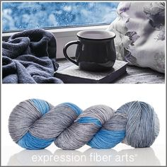 Expression Fiber Arts, Inc. - A GOOD DAY TO READ 'RESILIENT' SUPERWASH MERINO SOCK YARN , $24.00 (http://www.expressionfiberarts.com/products/a-good-day-to-read-resilient-superwash-merino-sock.html)