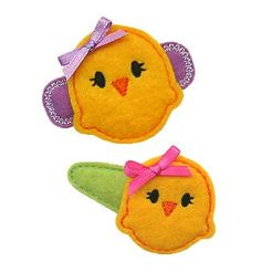 Baby chick hairclips