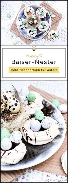 baiser nester mit schokocreme rezept baiser eiweiss und ostern. Black Bedroom Furniture Sets. Home Design Ideas