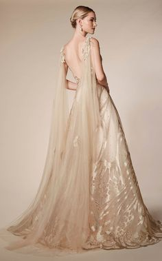 Andrea and Leo Andrea & Leo Couture is a premier eveningwear collection inspired by ethereal moments of femininity. With beautifully crafted gowns and exqu Bridal Gowns, Wedding Gowns, Wedding Tuxedos, Gold Wedding, Evening Dresses, Prom Dresses, Elegant Evening Gowns, Elegant Gown, Afternoon Dresses