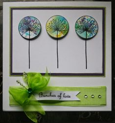 """This card features """"Dandelions"""" from Lavinia Stamps. Available at www.addictedtorubberstamps.com, SKU 755560."""