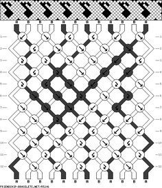 geometric diamond friendship bracelet pattern with border