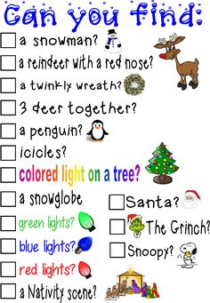 Christmas Light Scavenger Hunt-pg 2 Guess what we're doing tonight? Can't wait! See pg 1