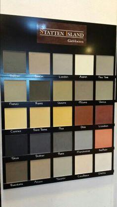 25 kleuren van de cementgebonden gietvloer nu bij Statten Island