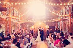 Indoor beautiful barn wedding