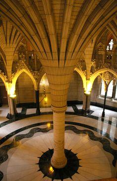 The Rotunda inside the center block of the Ottawa parliament, also called Confederation Hall. Ottawa Parliament, Parliament Of Canada, Grands Lacs, Ontario, Niagara Falls