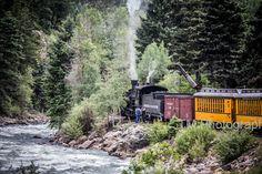 Durango Silverton Narrow Gauge Railroad  Train  by turquoisemoon