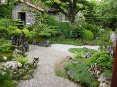 Organic Gardening In Texas Landscaping With Rocks, Garden Landscaping, Japanese Garden Design, Japanese Gardens, Gras, Interior Exterior, Garden Inspiration, Garden Ideas, Water Features
